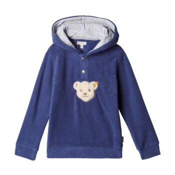 Steiff  kapucnis pulóver meleg polár fleece anyagból - sípoló macival - sötétkék - Bunny and Teddy