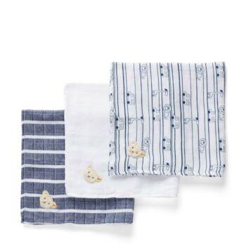 Steiff  textilpelenka csomagban,díszdobozban - Baby Boys - Cosy Blue kollekció