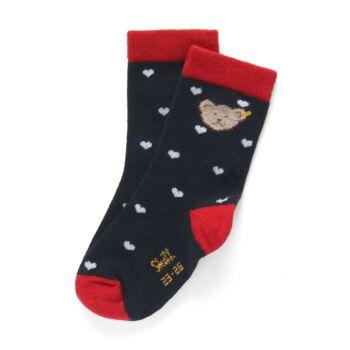 Steiff zokni - sötétkék/fekete - Bunny and Teddy