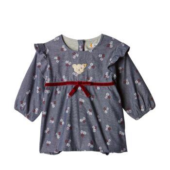 Steiff  bélelt ruha hosszú ujjal - Baby Girls - Rose Denim kollekció