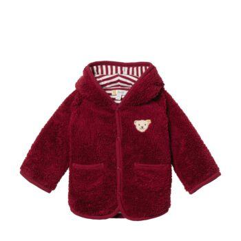 Steiff meleg bélelt polár kabát, kardigán - piros - Bunny and Teddy