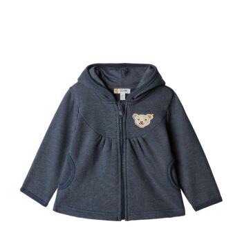 Steiff bélelt pamut kabát, kardigán - sötétkék/fekete - Bunny and Teddy