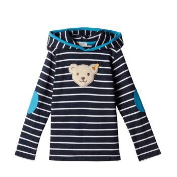 Steiff kapucnis pulóver - Mini Boys - Blue Stripe kollekció