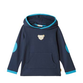 Steiff kapucnis pulóver - sötétkék/fekete - Bunny and Teddy