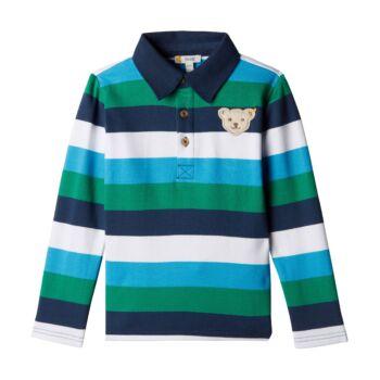 Steiff galléros hosszú ujjú póló - Mini Boys - Blue Stripe kollekció