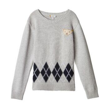 Steiff kötött pulóver - Mini Boys - Blue Stripe kollekció