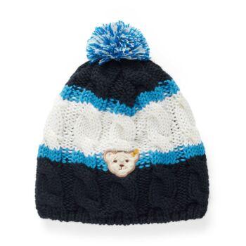 Steiff kötött sapka - Mini Boys - Blue Stripe kollekció