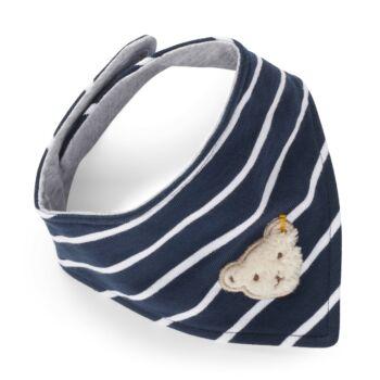Steiff háromszög alakú kendő, sál - Mini Boys - Blue Stripe kollekció