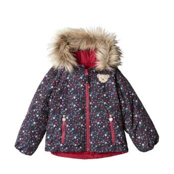 Steiff mindkét oldalán hordható steppelt kabát - piros - Bunny and Teddy