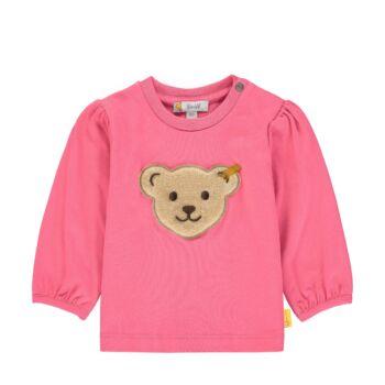Steiff rózsaszín baba pulóver pamutból nagy macival - Bear in my heart kollekció-rózsaszín-Bunny and Teddy