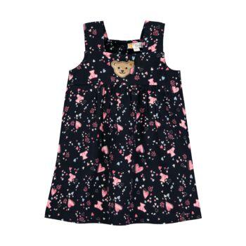 Steiff sötét kék színű kislány ruha macis és szívecskés mintával - Bear in my heart kollekció