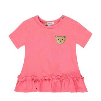 Steiff rózsaszín rövid ujjú póló fodrokkal - Bear in my heart kollekció