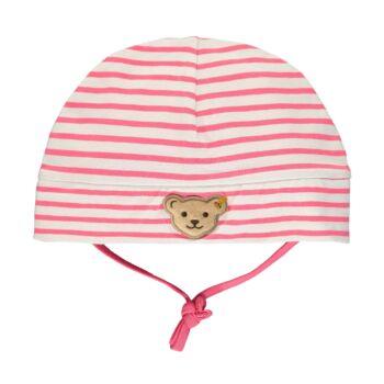 Steiff rózsaszín csíkos baba sapka megkötővel - Bear in my heart kollekció