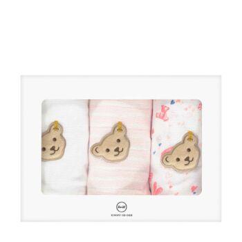 Steiff rózsaszín macis és szívecskés textilpelenka szett kislányoknak - Bear in my heart kollekció