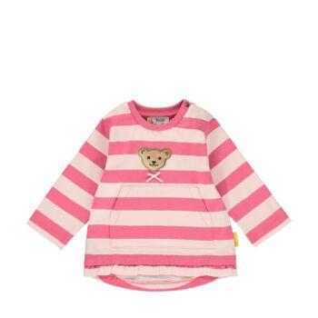 Steiff rózsaszín csíkos kapucnis pulóver melegítő felső kislányoknak - Bear in my heart kollekció