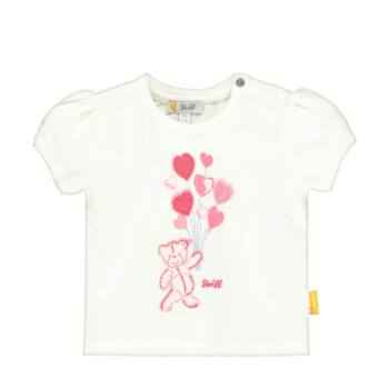 Steiff kislány rövid ujjú póló lufikkal és macival - Bear in my heart kollekció