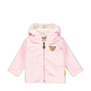 Steiff kislány polár fleece kocsikabát különleges mintával - Bear in my heart kollekció