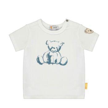 Steiff macis baba póló rövid ujjakkal - Bear Blues kollekció-fehér-Bunny and Teddy