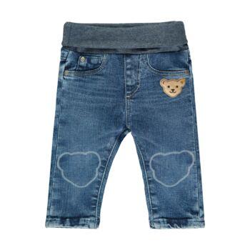 Steiff baba farmernadrág kisfiúknak gumipánttal - Bear Blues kollekció