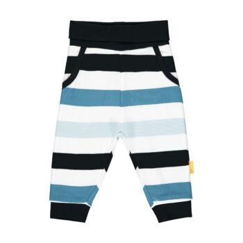 Steiff baba nadrág, csíkos melegítő alsó kisfiúknak - Bear Blues kollekció-sötét kék/fekete-Bunny and Teddy