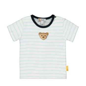 Steiff rövid ujjú csíkos baba póló kisfiúknak  - Bear Blues kollekció
