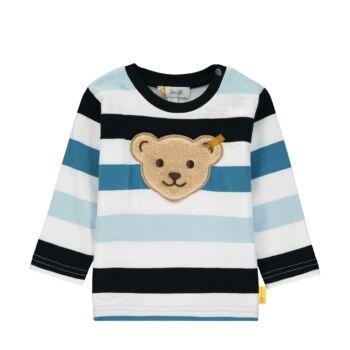 Steiff kék csíkos baba pulóver, melegítő felső - Bear Blues kollekció