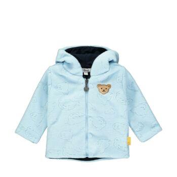 Steiff Polár fleece kocsikabát kisfiúknak különleges mintával - Bear Blues kollekció