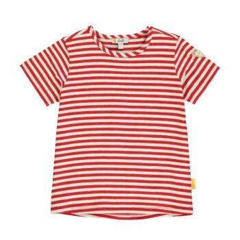 Steiff rövid ujjú csíkos pamut póló kislányoknak - Heartbeat kollekció