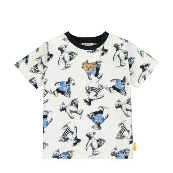 Steiff maci mintás rövid ujjú póló - Go Bear Go kollekció