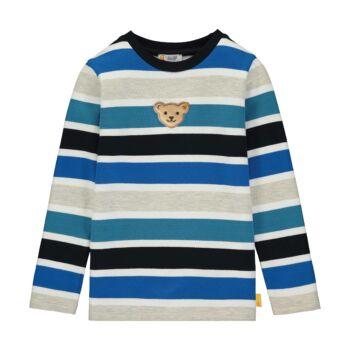 Steiff csíkos pulóver puha pamutból kisfiúknak - Go Bear Go kollekció