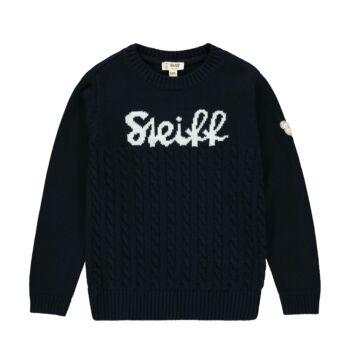 Steiff kötött pulóver kisfiúknak nagy steiff felirattal az elején - Go Bear Go kollekció