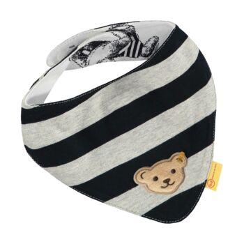 Steiff kisfiú kendő csíkokkal és macival 2db-os csomag - Go Bear Go kollekció