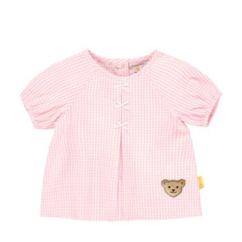 Steiff kockás tunika blúz kislányoknak - Bear & Cherry kollekció - világos rózsaszín - Bunny and Teddy
