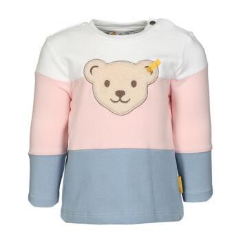 Steiff puha pamut pulóver kislányoknak enyhén bővülő fazonnal - Bear & Cherry kollekció - fehér - Bunny and Teddy