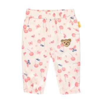 Steiff cseresznye mintás baba nadrág kislányoknak pamutból - Bear & Cherry kollekció - világos rózsaszín - Bunny and Teddy