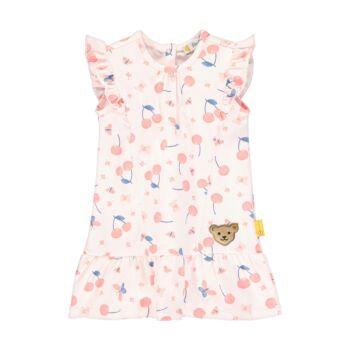 Steiff cseresznye mintás fodros nyári ruha - Bear & Cherry kollekció - világos rózsaszín - Bunny and Teddy