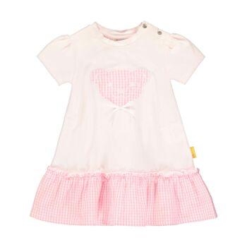 Steiff halvány rózsaszín ruha kockás mintájú fodrokkal - Bear & Cherry kollekció