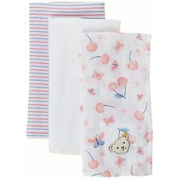 Steiff 3 darabos textil peleka szett - Bear & Cherry kollekció - világos rózsaszín - Bunny and Teddy