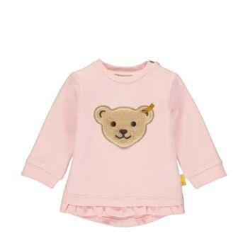 Steiff fodros aljú baba pulóver puha pamutból - Bear & Cherry kollekció - világos rózsaszín - Bunny and Teddy