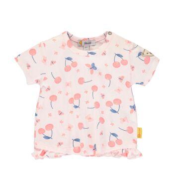 Steiff cseresznye mintás baba póló kislányoknak - Bear & Cherry kollekció - világos rózsaszín - Bunny and Teddy