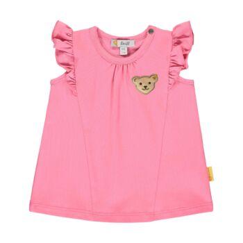 Steiff ujjatlan póló fodrokkal kislányoknak - Bear & Cherry kollekció - rózsaszín - Bunny and Teddy