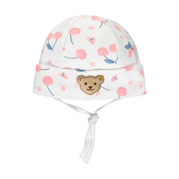 Steiff cseresznye mintás baba sapka - Bear & Cherry kollekció - fehér - Bunny and Teddy