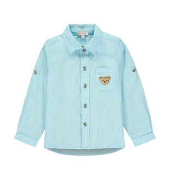 Steiff hosszú ujjú ing felgombolható ujjakkal Safari Bear - mini boys kollekció - kék - Bunny and Teddy