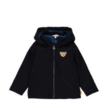 Steiff átmeneti kabát, dzseki kisfiúknak softshell anyagból Safari Bear - mini boys kollekció - sötétkék/fekete - Bunny and Teddy