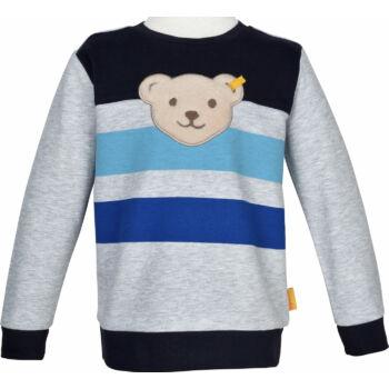 Steiff puha pamut pulóver sípoló hangot kiadó macival Safari Bear - mini boys kollekció - szürke - Bunny and Teddy
