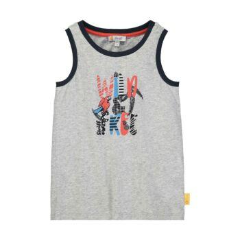 Steiff ujjatlan pamut póló, trikó Safari Bear - mini boys kollekció - szürke - Bunny and Teddy
