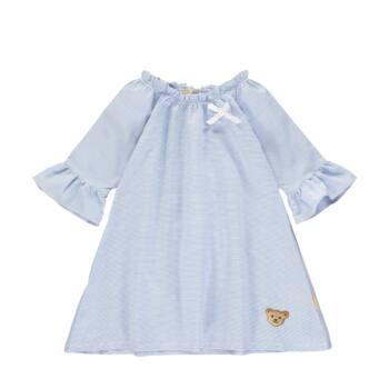 Steiff kék fehér csíkos A-vonalú ruha kislányoknak - Sweet Cherry kollekció