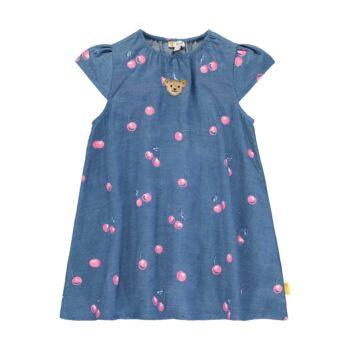 Steiff cseresznye mintás lyocell ruha - Sweet Cherry kollekió - kék - Bunny and Teddy