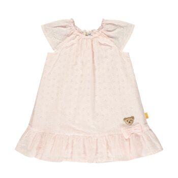 Steiff áttört anyagú pamut ruha  - Sweet Cherry kollekió - világos rózsaszín - Bunny and Teddy