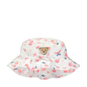 Steiff cseresznye mintás kalap - Sweet Cherry kollekió - fehér - Bunny and Teddy